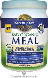 Garden Of Life Kosher Organic Vegan Raw Meal Protein Powder Vanilla 17 1 Oz