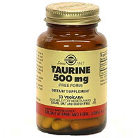Solgar Kosher Taurine 500 Mg 50 Vegetable Capsules