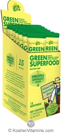 Amazing Grass Kosher Green Superfood Drink Powder Pineapple Lemongrass 15 Packets