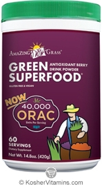 Amazing Grass Kosher Green Superfood Drink Powder 40,000 ORAC 14.8 OZ