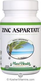 Maxi Health Kosher Zinc Aspartate 100 Tablets