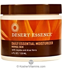 Desert Essence Daily Essential Moisturizer with Jojoba and Aloe Vera 4 OZ