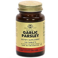 Solgar Kosher Garlic Parsley 100 Tablets
