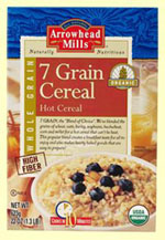 Arrowhead Mills Kosher 7  Grain Hot Cereal Organic Case of 12 22 OZ.