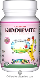 Maxi Health Kosher KiddieMax Kiddievite Multi Viamin & Mineral One Daily Chewable Bubble Gum Flavor 90 Chewables