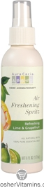 Aura Cacia Air Freshening Spritz Refreshing Lime & Grapefruit 6 OZ