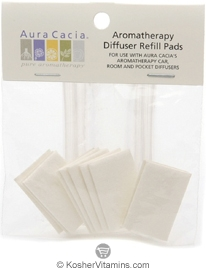 Aura Cacia Aromatherapy Diffuser Refill Pads (for Car, Room & Pocket Diffusers) 10 Pads