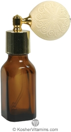 Aura Cacia Amber Glass Bottle with Atomizer 0.5 OZ