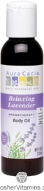Aura Cacia Body Oil Relaxing Lavender 8 OZ
