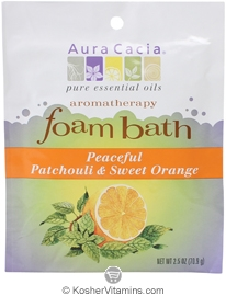 Aura Cacia Aromatherapy Foam Bath Peaceful Patchouli & Sweet Orange 6 Pack