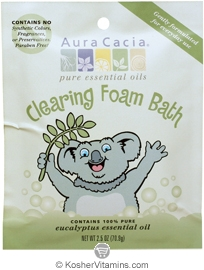 Aura Cacia Kids Aromatherapy Foam Bath Clearing Eucalyptus 6 Pack