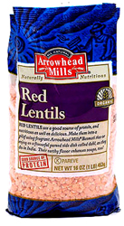 Arrowhead Mills Kosher Red Lentils Organic  16 OZ