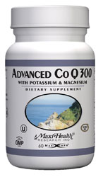 Maxi Health Kosher Advanced CO Q 300 Mg (Coenzyme) with Potassium & Magnesium 60 Capsules