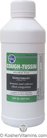 Adwe Kosher Cough-Tussin Syrup 8 OZ