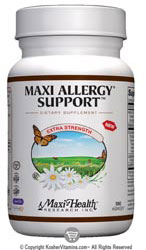 Maxi Health Kosher Maxi Allergy Support 180 MaxiCaps