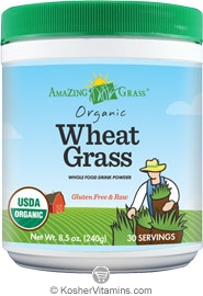 Amazing Grass Kosher Organic Wheat Grass Powder 8.5  oz
