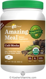 Amazing Grass Kosher Amazing Meal Cafe Mocha 14.9 OZ