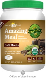 Amazing Grass Kosher Amazing Meal Cafe Mocha 29.8 OZ