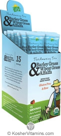 Amazing Grass Kosher The Amazing Trio Barley Grass Wheat Grass & Alfalfa 15 Packets
