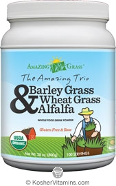 Amazing Grass Kosher The Amazing Trio Barley Grass Wheat Grass & Alfalfa 28 OZ