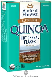 Ancient Harvest  Kosher Organic Quinoa Hot Cereal Flakes Gluten Free 12 OZ