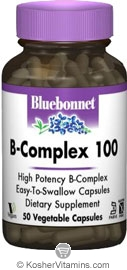 Solgar Kosher B Complex 100 Mg 50 Vegetable Capsules