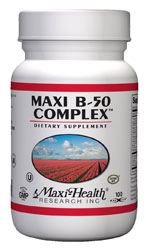 Maxi Health Kosher B Complex 50 Mg 100 Vegetable Capsules