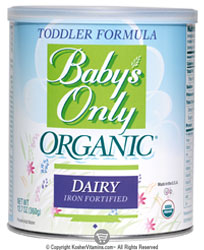 Natures One Kosher Baby's Only Organic Toddler Formula Dairy Iron Fortified 12.7 OZ