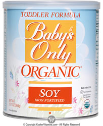 Natures One Kosher Baby's Only Organic Toddler Formula Soy Iron Fortified 12.7 OZ