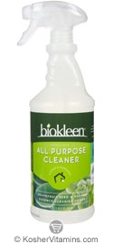 Biokleen All Purpose Cleaner Spray & Wipe Grapefruit Seed & Orange Essence 32 OZ