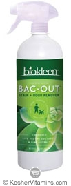 Biokleen Bac-Out Stain And Odor Eliminator with Foaming Sprayer & Lime Extract 32 OZ