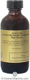 Newnutric Kosher Blood Pressure Stabilizer 4 OZ