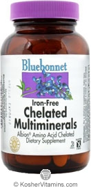 Bluebonnet Kosher Albion Chelated Multi Minerals (Iron Free) 60 Caplets