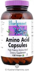 Bluebonnet Kosher Amino Acid 750 mg Dairy 180 Vegetable Capsules