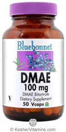 Bluebonnet Kosher DMAE 100 mg 50 Vegetable Capsules