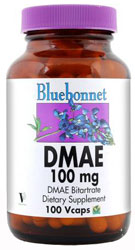 Bluebonnet Kosher DMAE 100 mg 100 Vegetable Capsules
