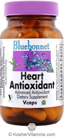 Bluebonnet Kosher Heart Antioxidant Formula 120 Vegetable Capsules