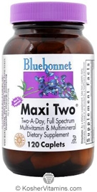 Bluebonnet Kosher MaxiTwo Multiple 120 Caplets