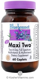 Bluebonnet Kosher MaxiTwo Multiple 60 Caplets