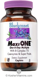 Bluebonnet Kosher MaxiOne Single Daily Multiple 30 Caplets