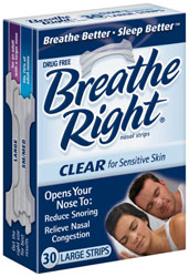 Breathe Right Nasal Strips Clear Large 30 Strips