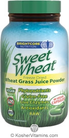Brightcore Nutrition Sweet Wheat Vegetarian Suitable not Certified Kosher  60 Vegan Capsules