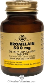 Solgar Bromelain 500 mg 30 Tablets