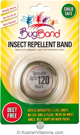 BugBand Kosher Insect Repellent Wristband Olive Green Deet Free 12 Pack