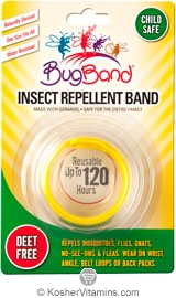 BugBand Kosher Insect Repellent Wristband Yellow Deet Free 12 Pack