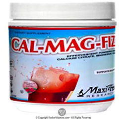 Maxi Health Kosher Cal-Mag-Fizz Calcium Magnesium Citrate & Vitamin D3 Powder Berry Flavor 13.75 OZ