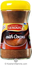 Leroux Kosher Instant Chicory with Cocoa  BUY 1 GET 1 FREE  4.4 OZ