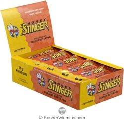 Honey Stinger Kosher 10g Protein Bar Peanut Butta Dairy 15 Bars