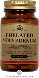 Solgar Kosher Chelated Molybdenum 100 Tablets