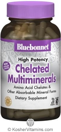 Bluebonnet Kosher High Potency Chelated Multiminerals 120 Caplets